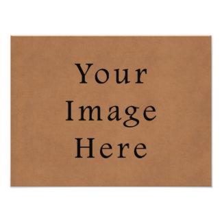 Fondo de cuero del papel de pergamino de Brown del Impresión Fotográfica