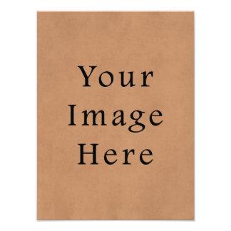 Fondo de cuero del papel de pergamino de Brown del Impresion Fotografica