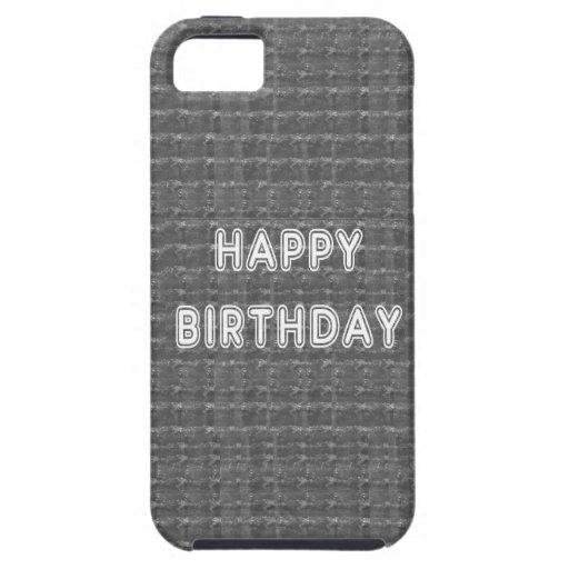 Fondo de HappyBirthday Artistist del FELIZ cumplea iPhone 5 Case-Mate Protectores