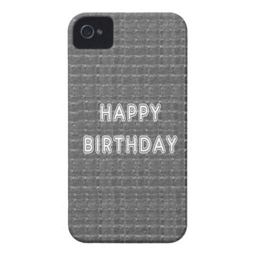 Fondo de HappyBirthday Artistist del FELIZ cumplea Case-Mate iPhone 4 Cobertura