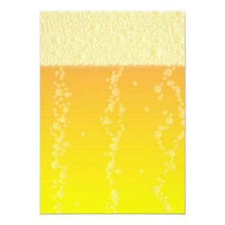 Fondo de la cerveza invitación 12,7 x 17,8 cm