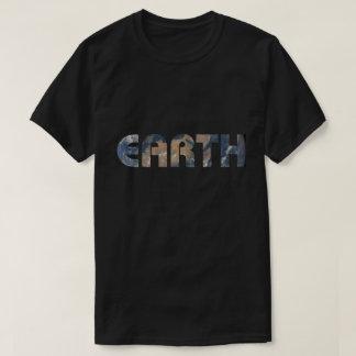 Fondo de la foto de la tierra del planeta camiseta