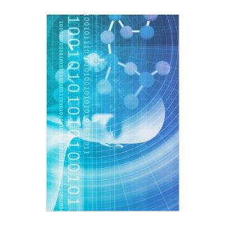 Fondo de la molécula como concepto del extracto de impresión acrílica