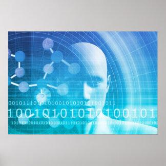 Fondo de la molécula como concepto del extracto de póster