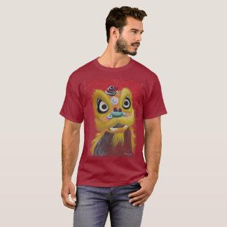 Fondo de la oscuridad de la camiseta del león del