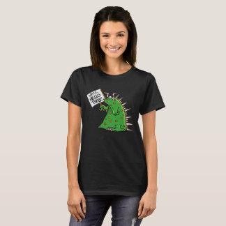 Fondo de la oscuridad de la Ladies'T-camisa de Camiseta