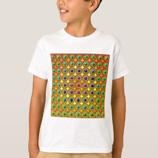 Fondo de la piedra preciosa camiseta