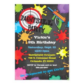 Fondo de la pizarra de la fiesta de cumpleaños de invitación 12,7 x 17,8 cm