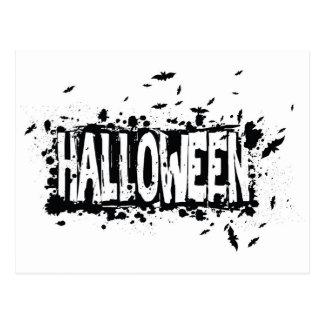 Fondo de la silueta del Grunge de Halloween Postal
