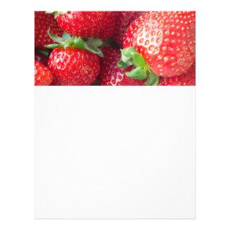 Fondo de las fresas folleto 21,6 x 28 cm