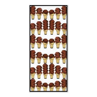 Fondo de los conos de helado de chocolate tarjeta publicitaria