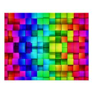 Fondo de los gráficos del arco iris 3d de los póster