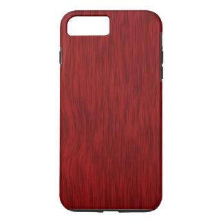 Fondo de madera áspero del grano - rojo funda iPhone 7 plus