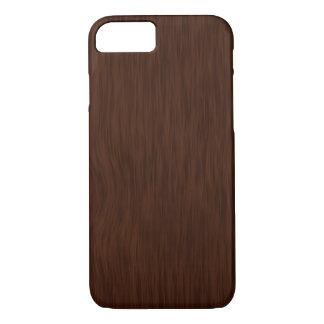 Fondo de madera áspero oscuro del grano funda iPhone 7