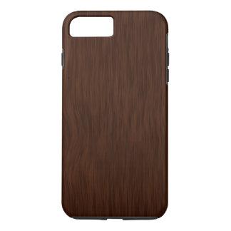 Fondo de madera áspero oscuro del grano funda iPhone 7 plus