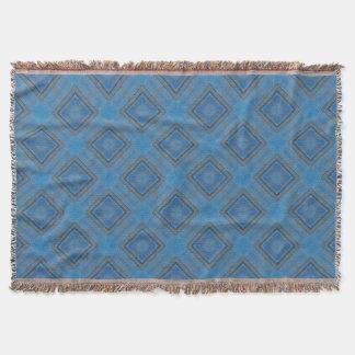 fondo de madera azul manta tejida