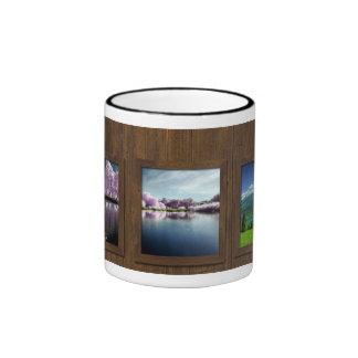 Fondo de madera + Fotos Taza A Dos Colores