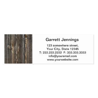 Fondo de madera tarjetas de visita mini