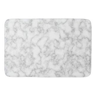Fondo de piedra veteado de mármol del blanco gris alfombrilla de baño