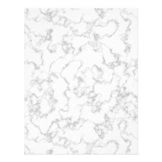 Fondo de piedra veteado de mármol del blanco gris folleto 21,6 x 28 cm