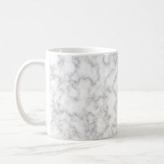 Fondo de piedra veteado de mármol del blanco gris taza de café