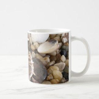 Fondo de Shell del mar Taza De Café