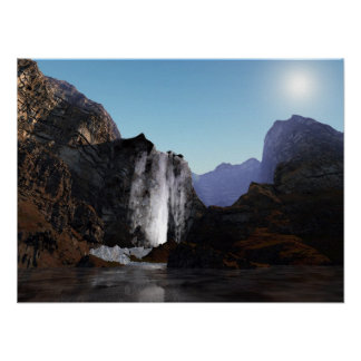 Fondo del acuario de las cascadas posters