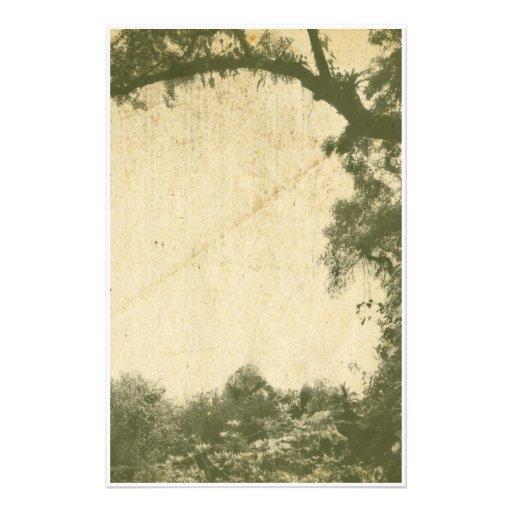 Fondo del árbol del vintage papeleria personalizada