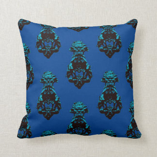 Fondo del azul del vintage cojín decorativo