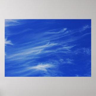 Fondo del cielo azul póster