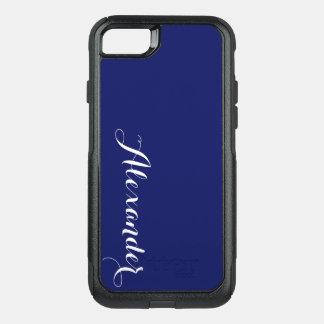 Fondo del color de DIY, azul marino conocido del Funda Commuter De OtterBox Para iPhone 8/7