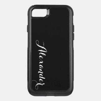 Fondo del color de DIY, negro conocido del Funda Commuter De OtterBox Para iPhone 7