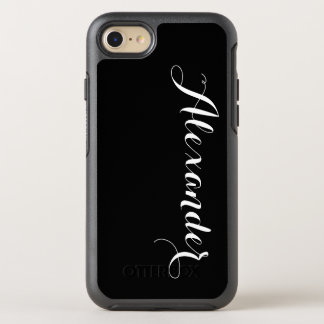 Fondo del color de DIY, negro conocido del Funda OtterBox Symmetry Para iPhone 7