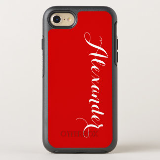 Fondo del color de DIY, rojo conocido del Funda OtterBox Symmetry Para iPhone 7
