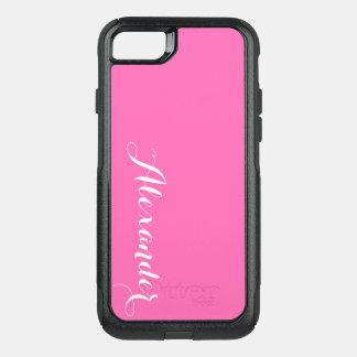 Fondo del color de DIY, rosa fuerte conocida del Funda Commuter De OtterBox Para iPhone 7