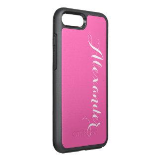 Fondo del color de DIY, rosa fuerte conocida del Funda OtterBox Symmetry Para iPhone 7 Plus
