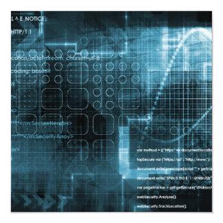 Fondo del concepto del Internet con el concepto de Invitación 13,3 Cm X 13,3cm