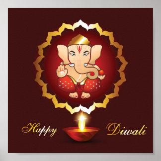 Fondo del festival de Diwali Póster