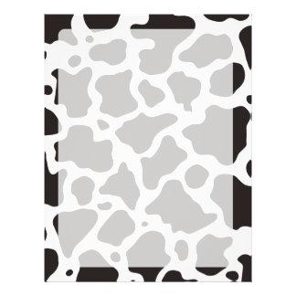 Fondo del modelo de la vaca folleto 21,6 x 28 cm