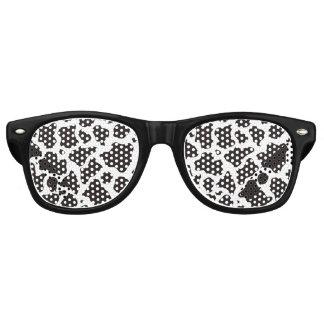 Fondo del modelo de la vaca gafas de fiesta retro