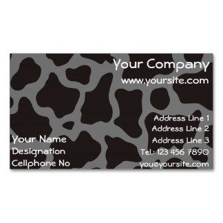 Fondo del modelo de la vaca tarjetas de visita magnéticas