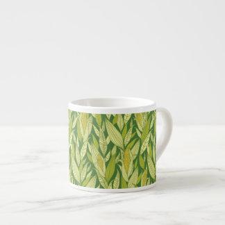 Fondo del modelo de las plantas de maíz taza espresso