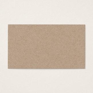 Fondo del papel de Brown Kraft impreso Tarjeta De Negocios