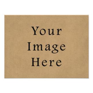 Fondo del papel de pergamino de Brown del ante del Fotografías