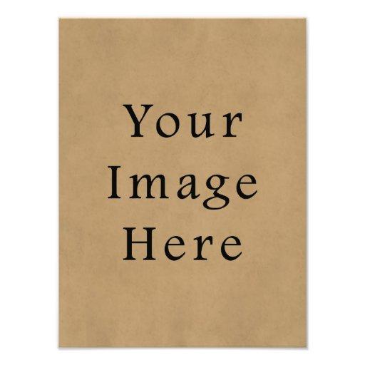 Fondo del papel de pergamino de Brown del ante del Impresion Fotografica