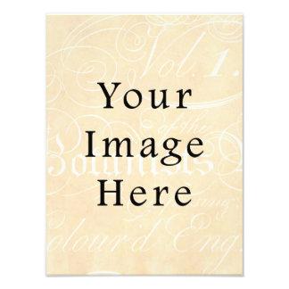 Fondo del papel de pergamino del moreno del texto impresion fotografica