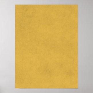 Fondo del pergamino del papel de oro amarillo del póster