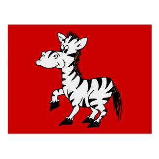 Fondo del rojo de la cebra postal