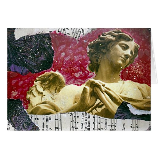 Fondo del rosa del collage de las técnicas mixtas  tarjeton