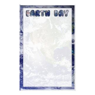 Fondo del texto w/Earth del Día de la Tierra Papelería De Diseño